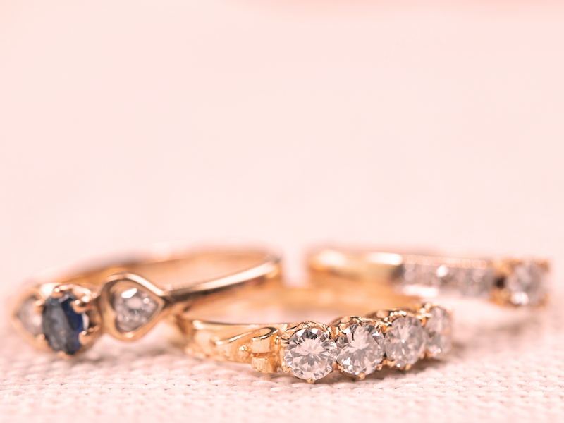 Collection of yellow-gold rings